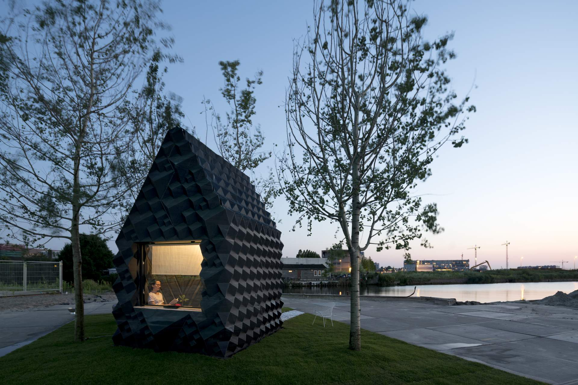 3D printed canal house - image courtesy of DUS Architects